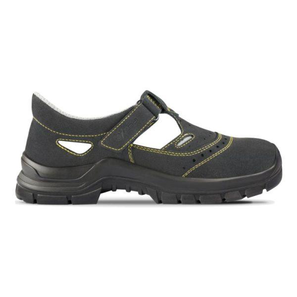 Sandale de protectie - spalt de bovina; bombeu metalic; lamela metalica