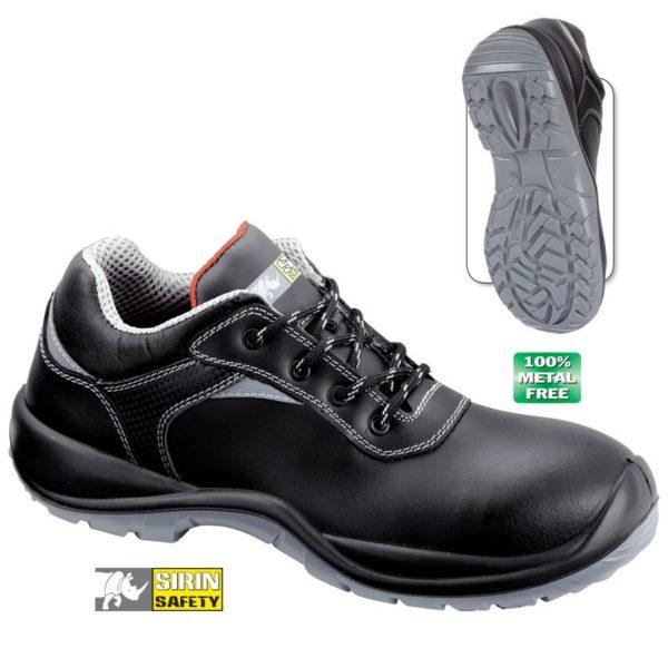 Pantofi de protectie - piele de bovina neteda