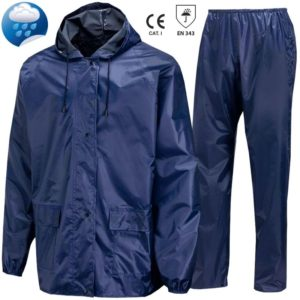 Costum impermeabil din poliester/pvc. Culoare: bleumarin