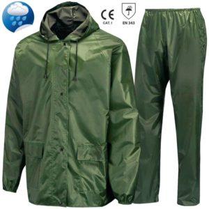 Costum impermeabil din poliester/pvc. Culoare: verde
