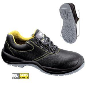Pantofi de protectie - piele pigmentata de bovina; bombeu compozit