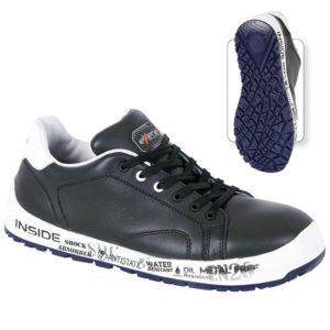 Pantofi de protectie - piele box de bovina si material rezistent la abraziune