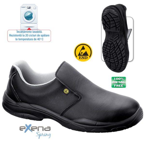 Pantof ESD de protectie - microfibra DRY; bombeu compozit