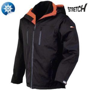 Jacheta de iarna din softshell. Impermeabila
